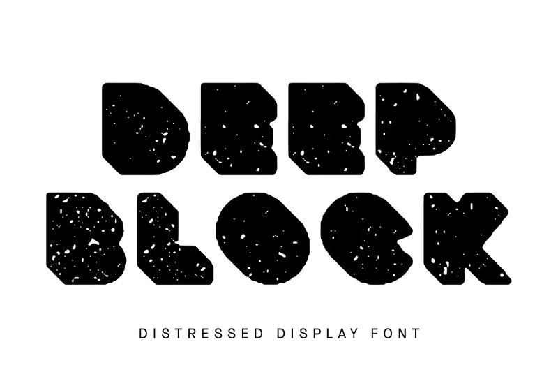 Deep block block font