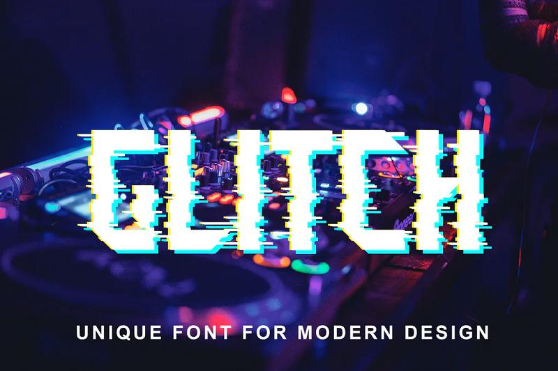 block glitch block font