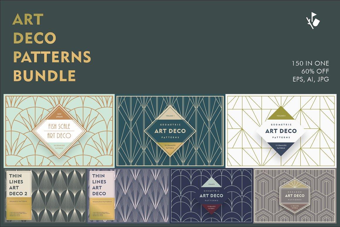 Art Deco patterns bundle
