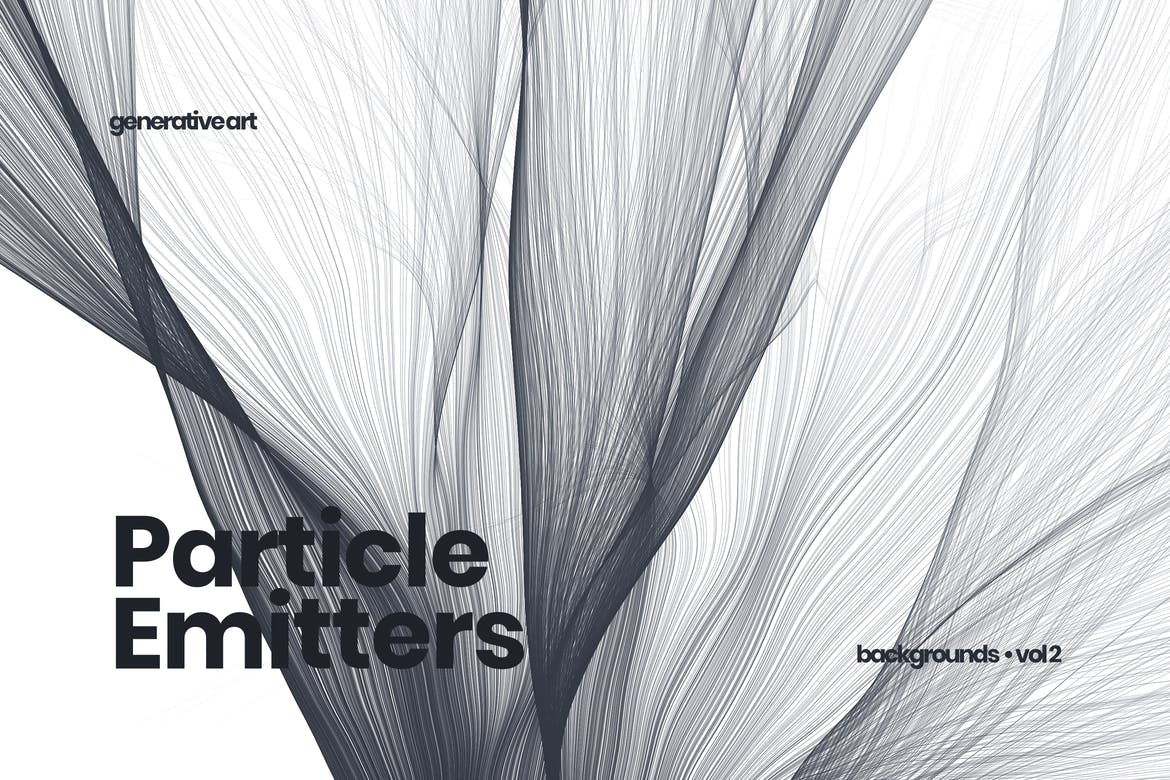 Black and white particle emitters background