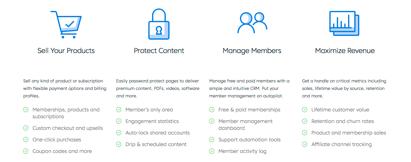 MemberMouse features