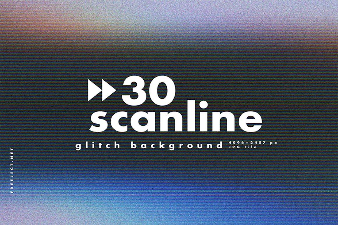 Scan lines glitch background