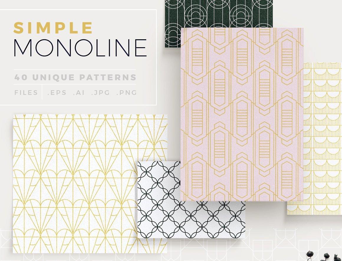 Simple mono line patterns