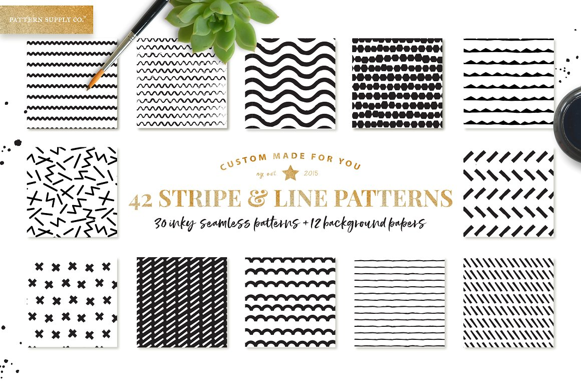Stripe and line patterns