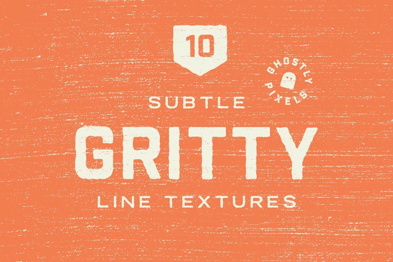 Subtle gritty line textures