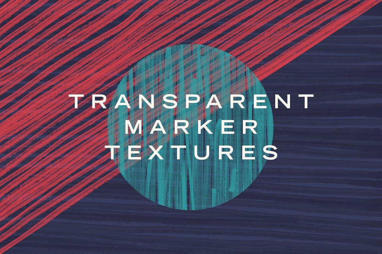 Transparent marker textures