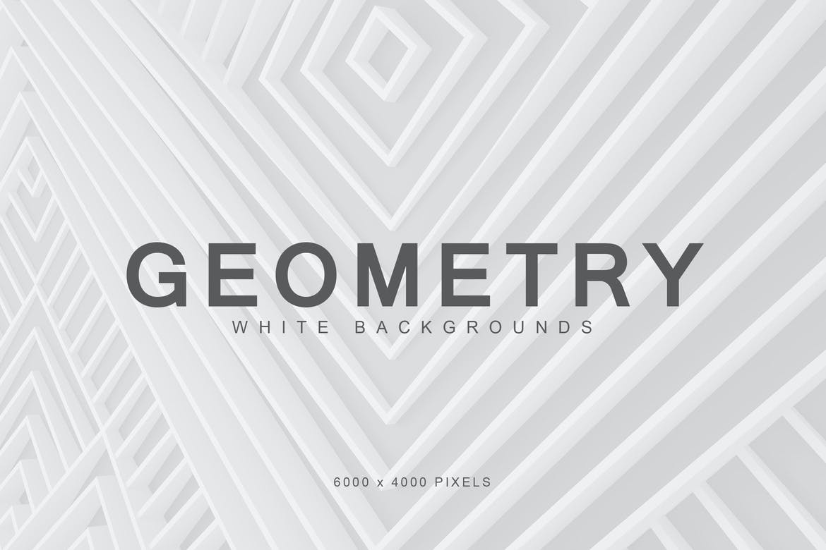 White geometry backgrounds