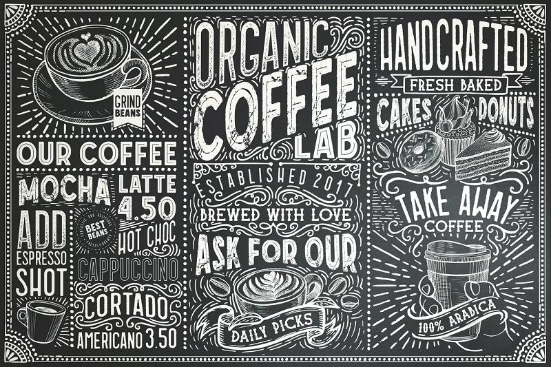 coffee lab chalkboard font