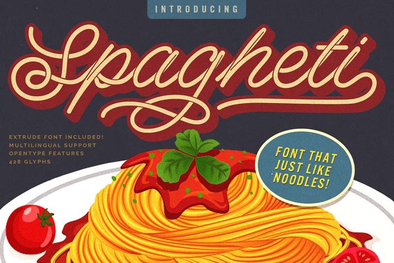 Spagheti stencil font