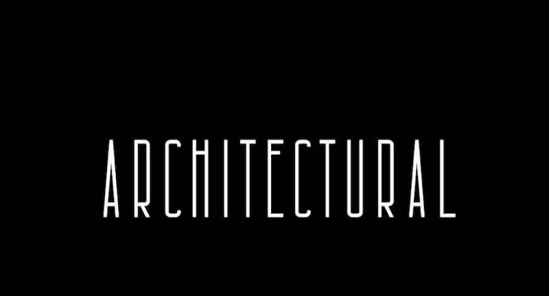 Architectural narrow and condensed font
