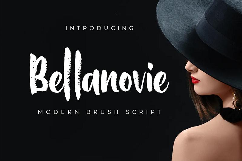 Bellanovie chalkboard font