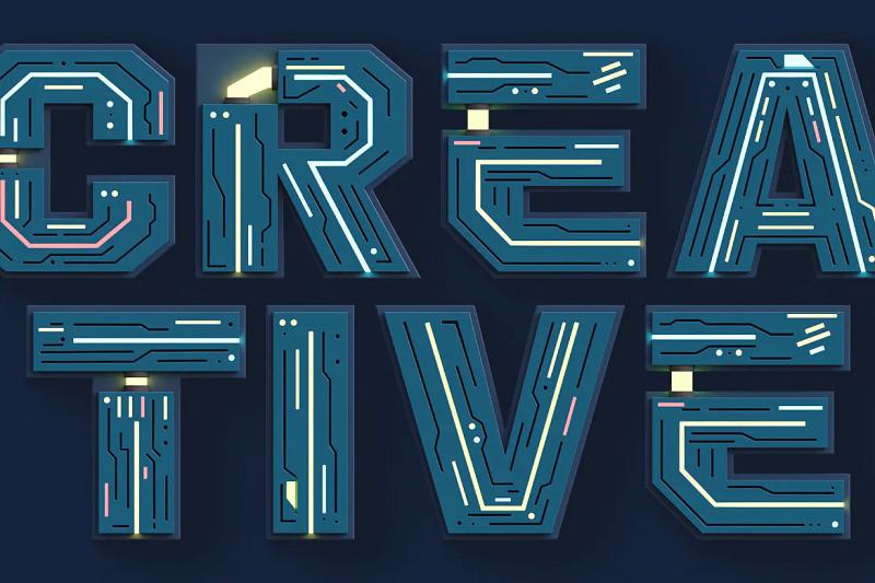 Futuristico 3D SVG font