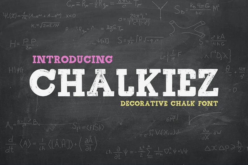 Chalkiez chalkboard font