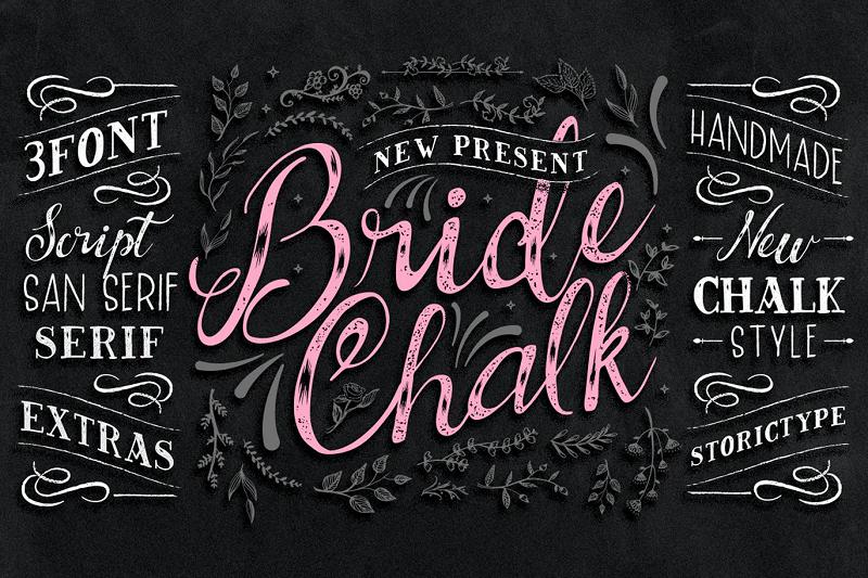 Bridechalk chalkboard font