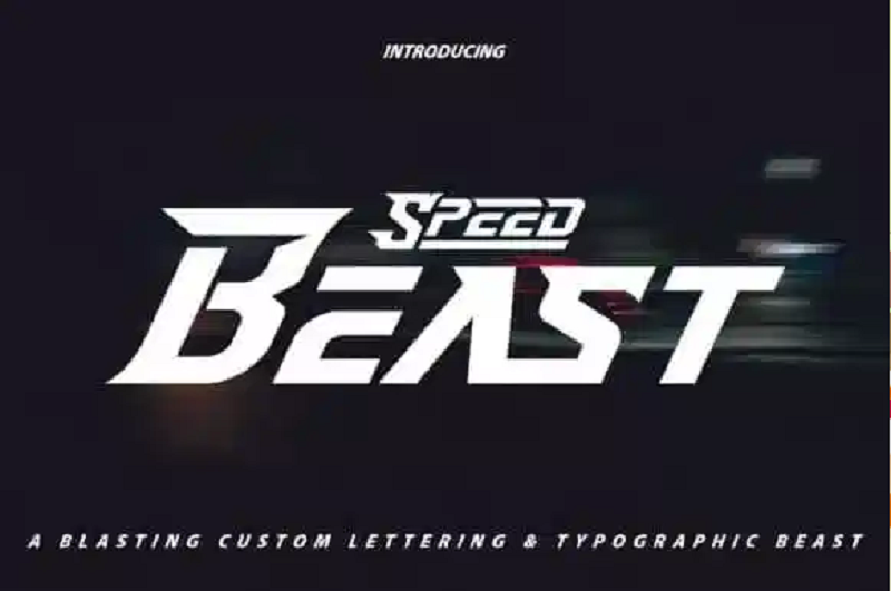 Speed beast gaming font