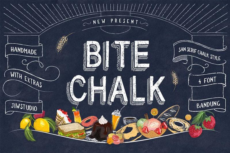 Bitechalk chalkboard font