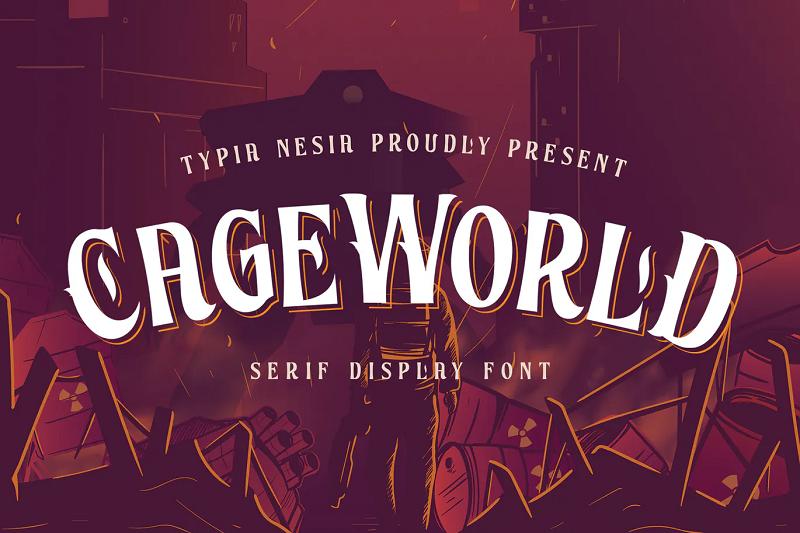 CageWorld gaming font