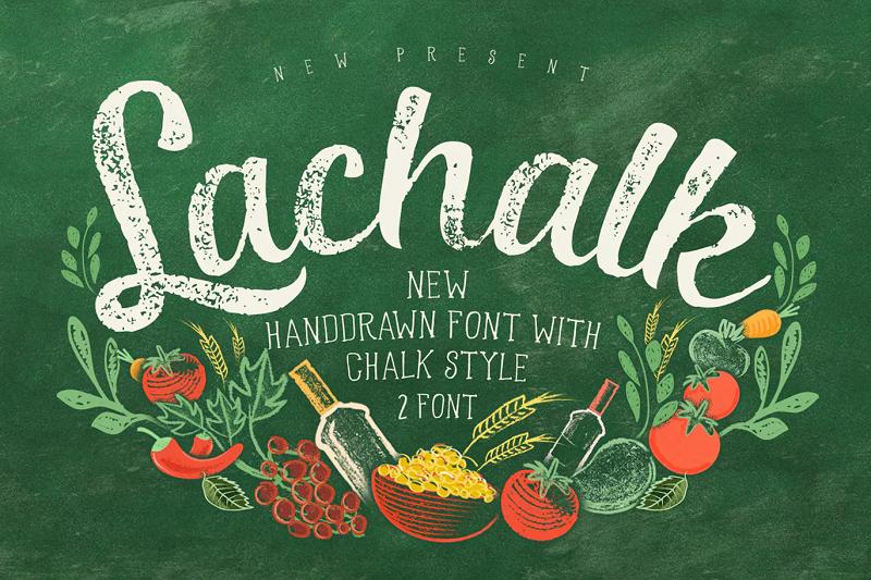 Lachalk chalkboard font