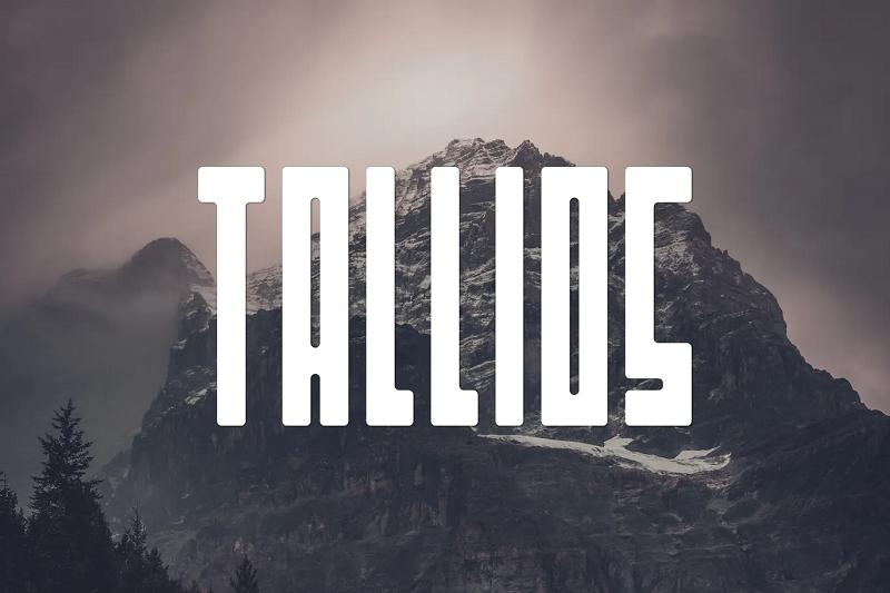 Tallios condensed font