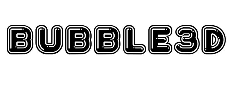 Bubble 3D font