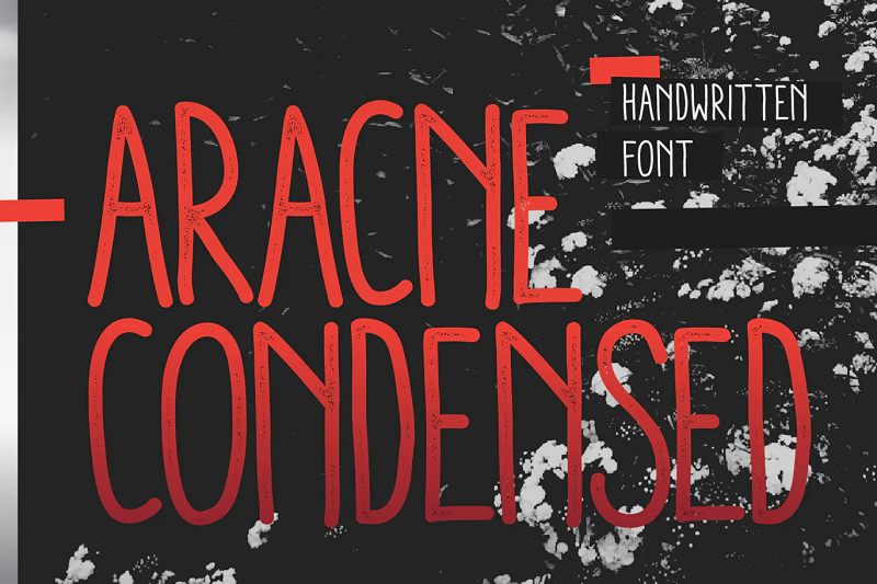 Aracne narrow and condensed font