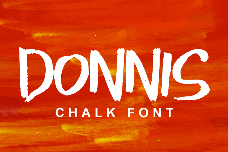 Donnis chalkboard font