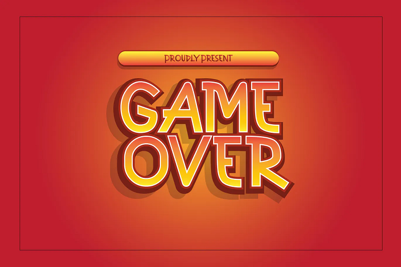 Cube gaming font