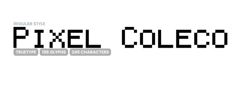 Pixel gaming font