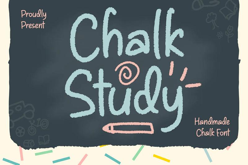 chalk study chalkboard font