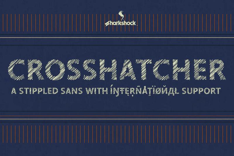 Crosshatcher stencil font