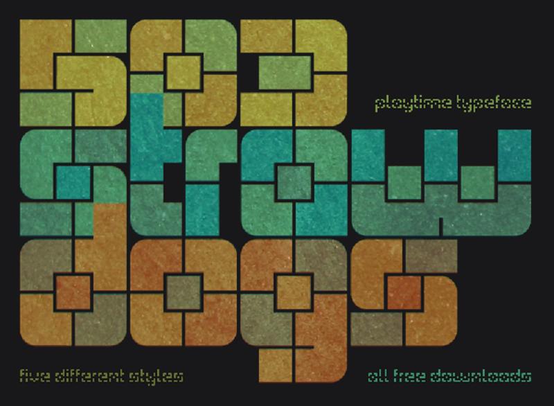 Playtime stencil font
