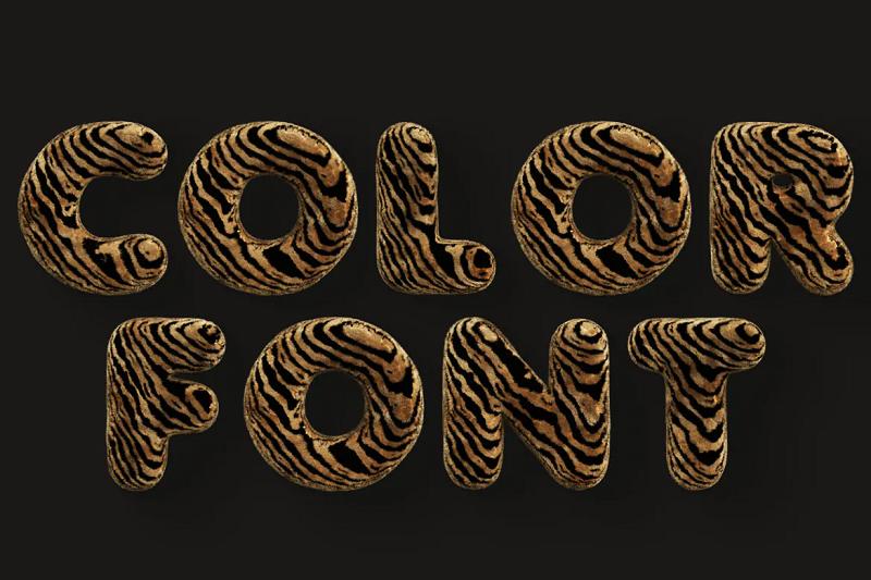 Tiger 3D font
