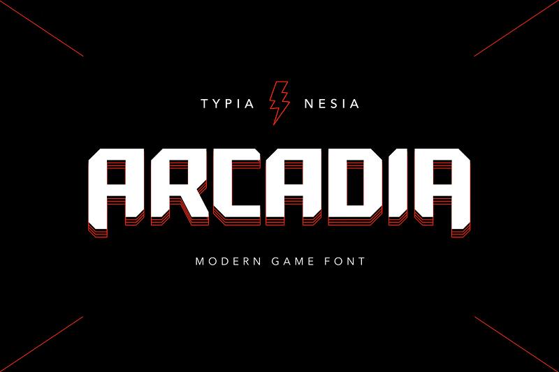 Arcade gaming font