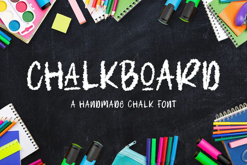 handmande chalkboard font