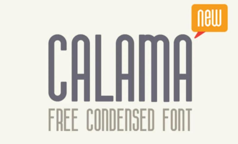 Calama condensed font