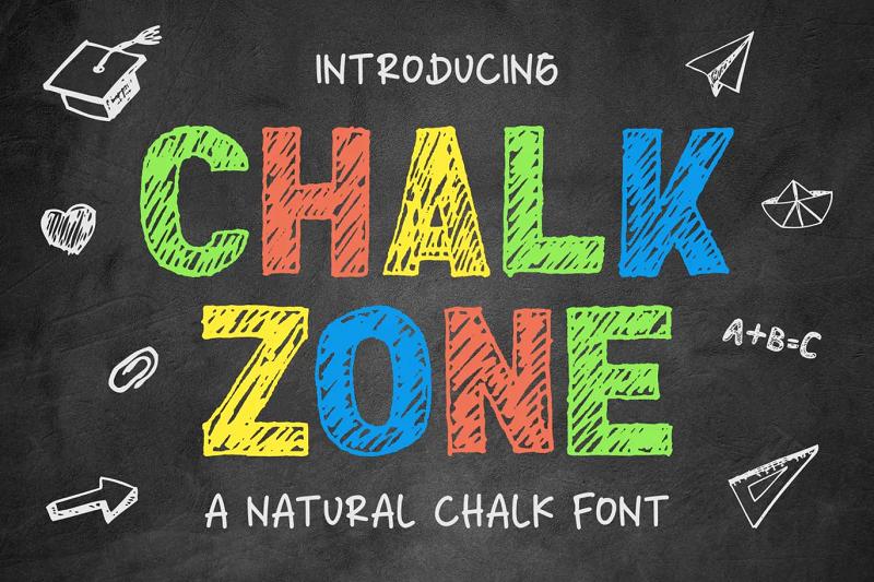 Chalkzone chalkboard font