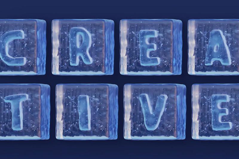 Ice cube typeface