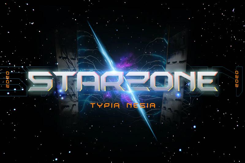 Starzone Scifi gaming font