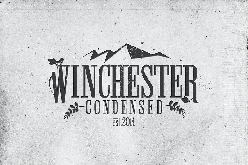 Winchester narrow and condensed font
