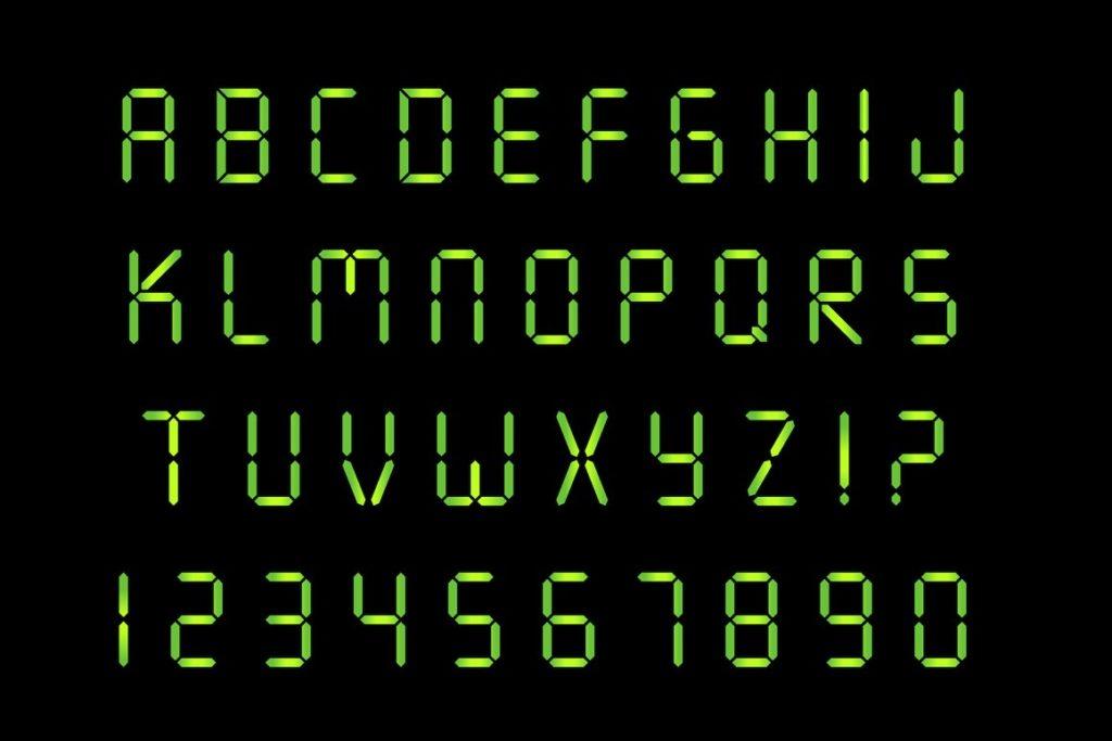 7 Segment Display Font