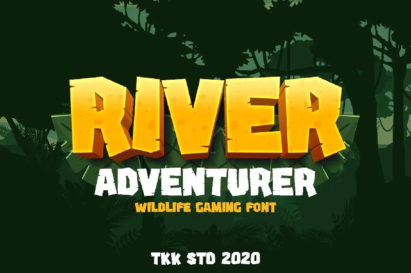 River adventurer gaming font