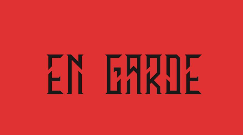en garde narrow and condensed font