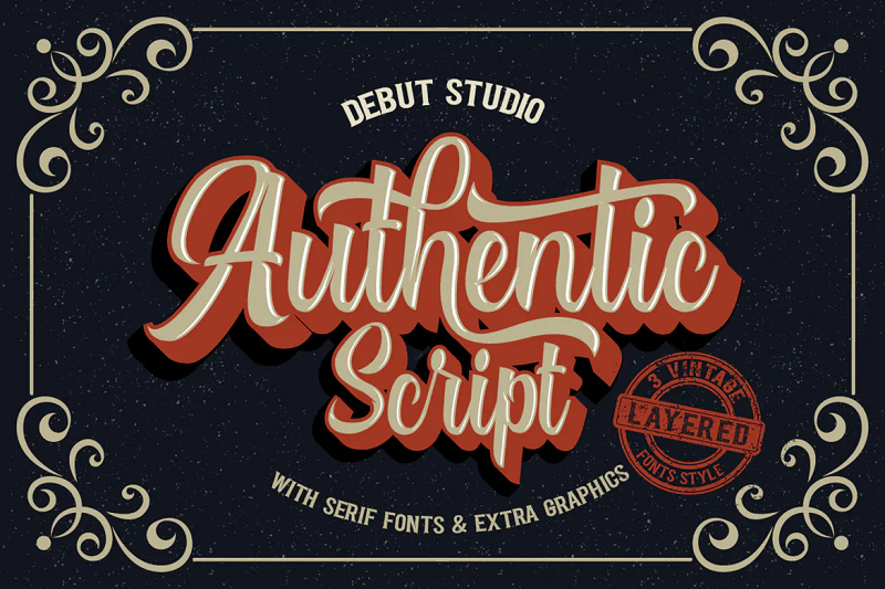 Authentic 3D font