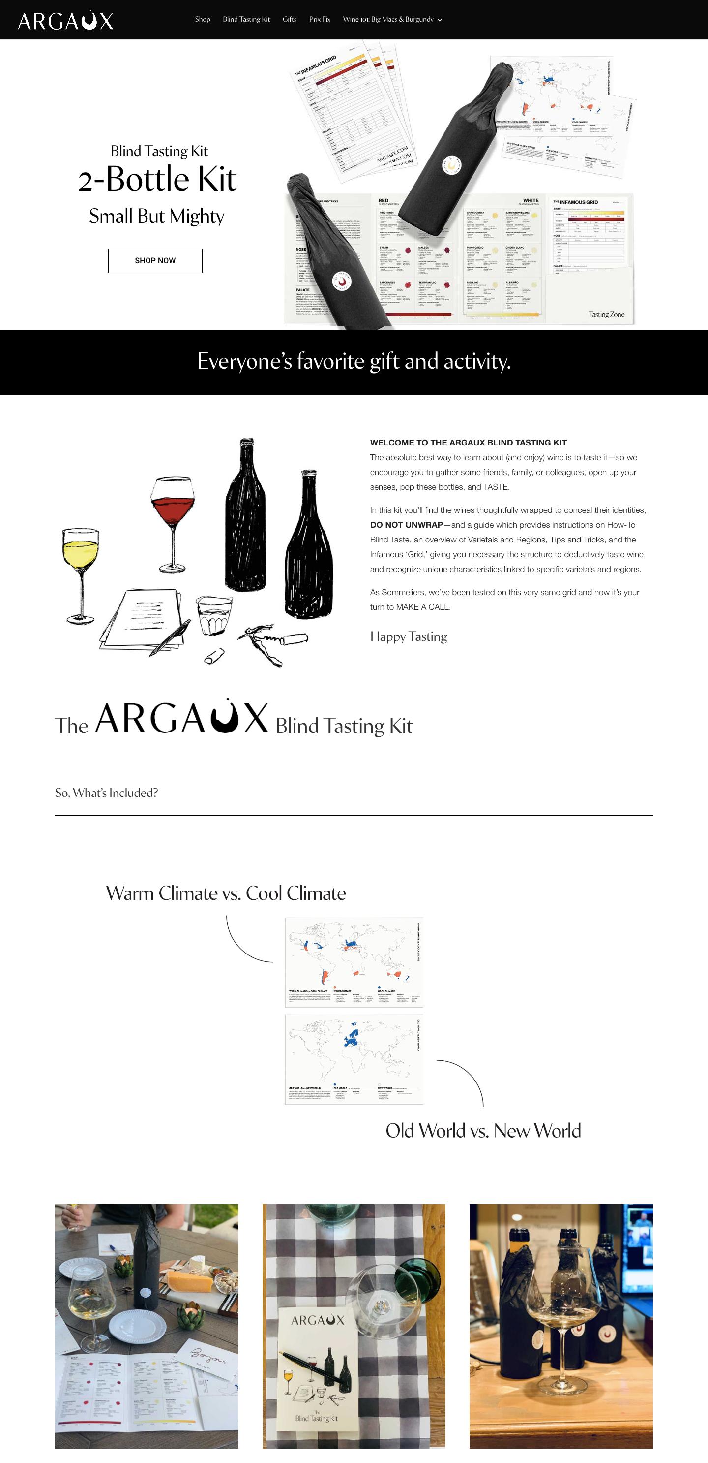 Argaux landing page