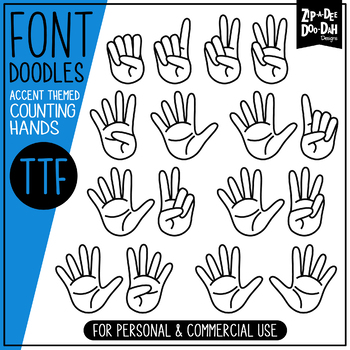 Counting Fingers Doodle Font
