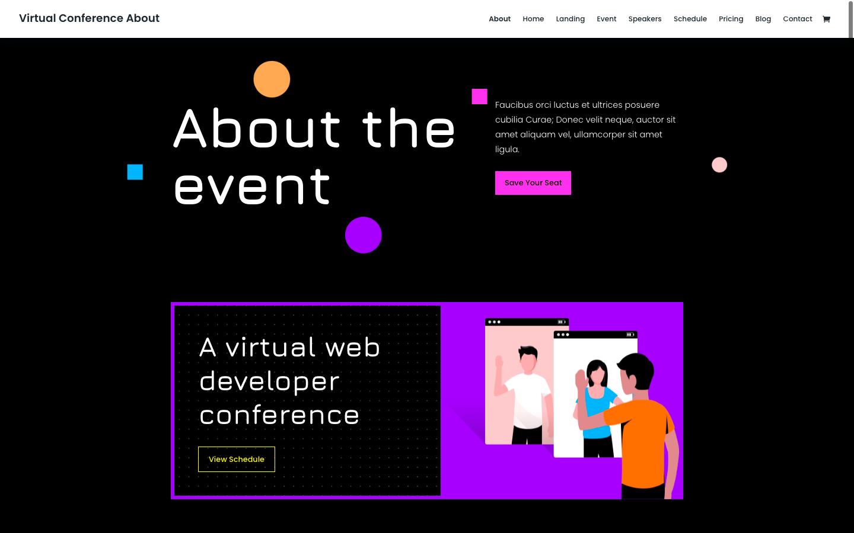 Divi virtual event theme