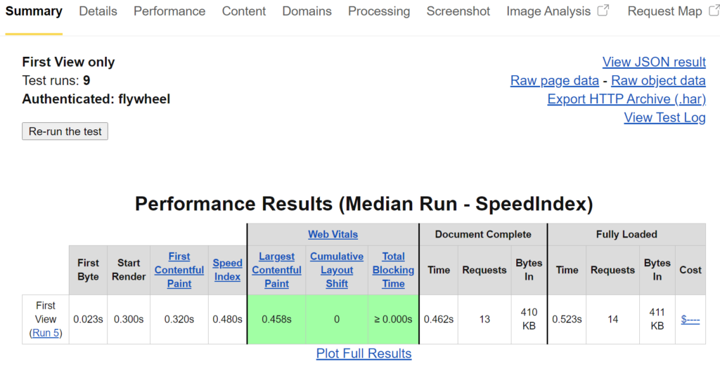 Flywheel performance test