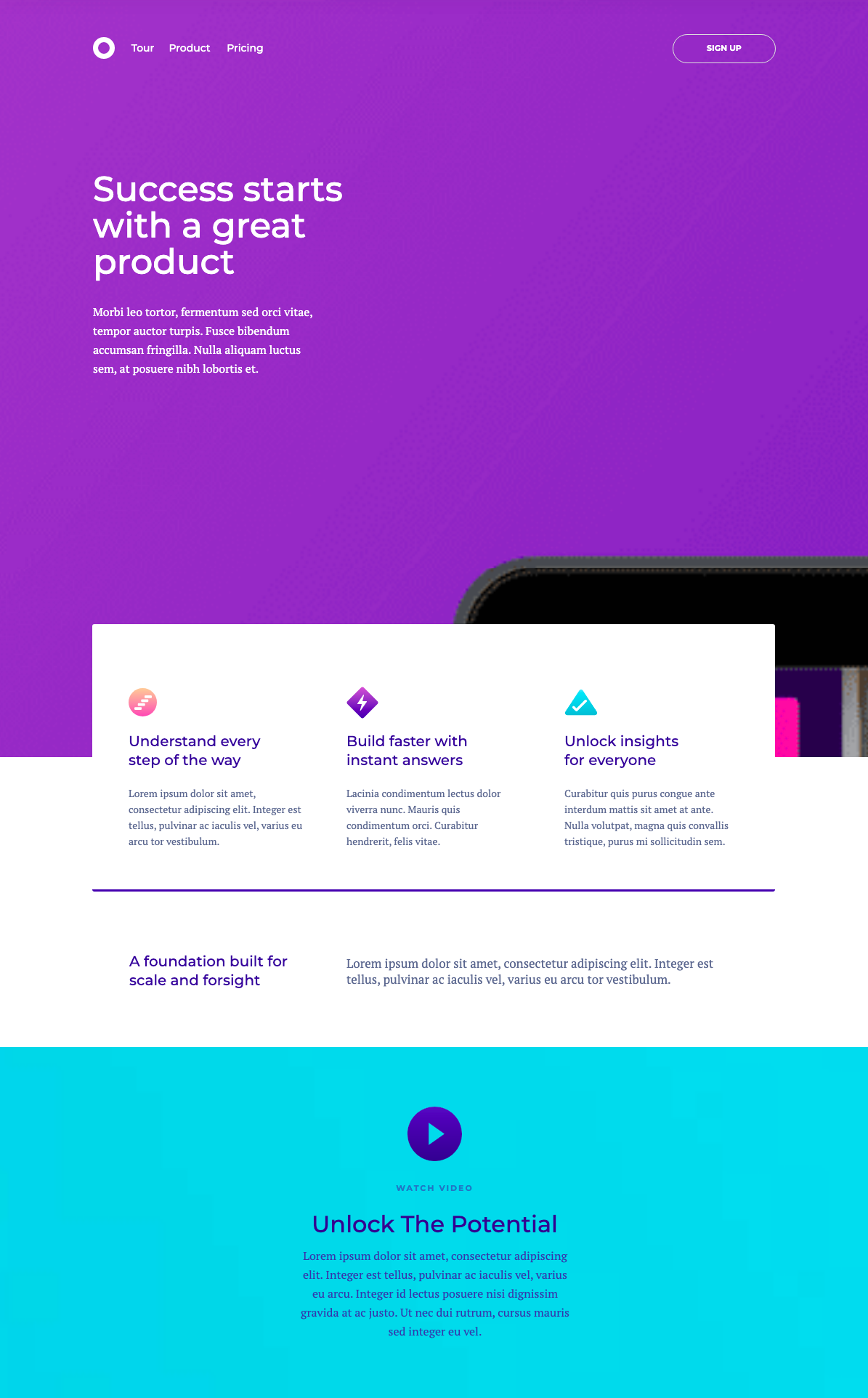 Landing page built with unbounce