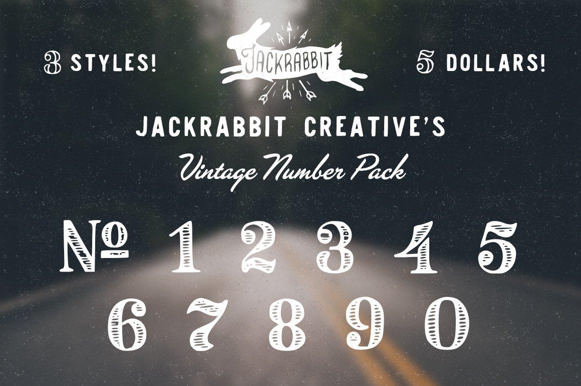 Vintage Number Pack