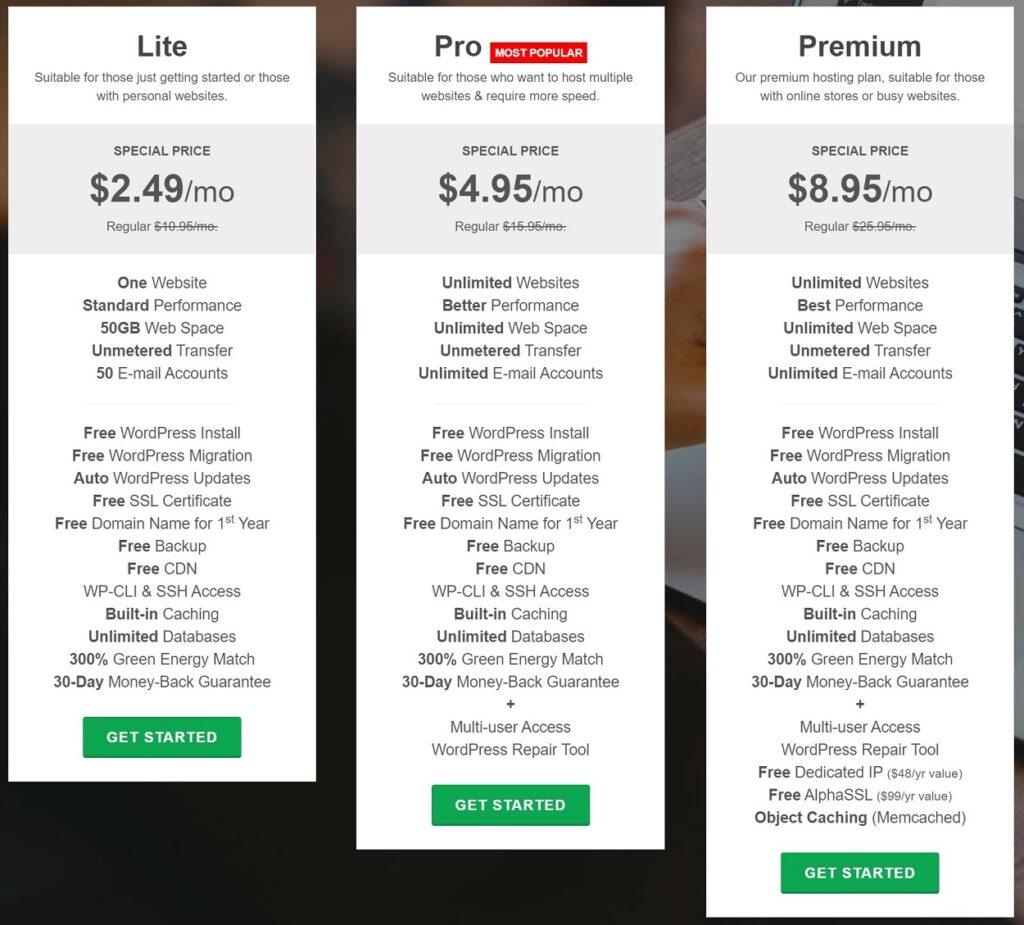 GreenGeeks pricing review